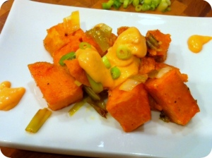 Sriracha Sweet Potato Salad