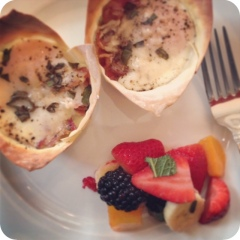 Egg Cup & Fruit