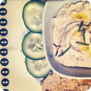 White Bean Rosemary Hummus