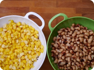 Corn and Black Eyed Peas
